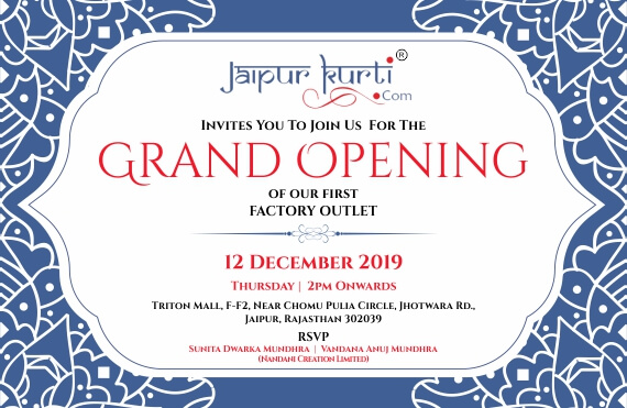 Jaipurkurti.com Factory Outlet Inauguration